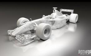 Ferrari F1 Modell stilisiert – Visualisierung