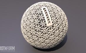 Sparkugel,  Durchmesser 110mm, Visualisierung