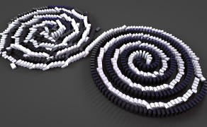 Animation Cinema 4D domino helix